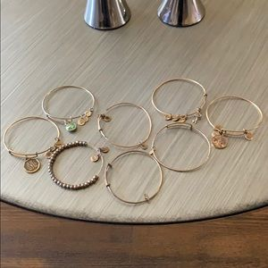 Set of 8 Alex and Ani Bracelets
